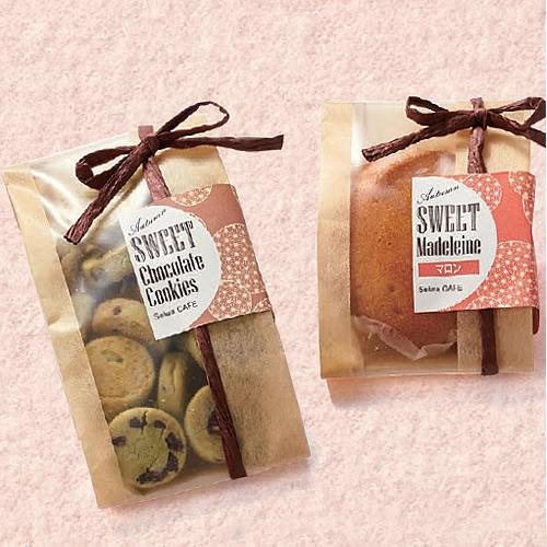 ナチュラルな洋菓子のパッケージ
