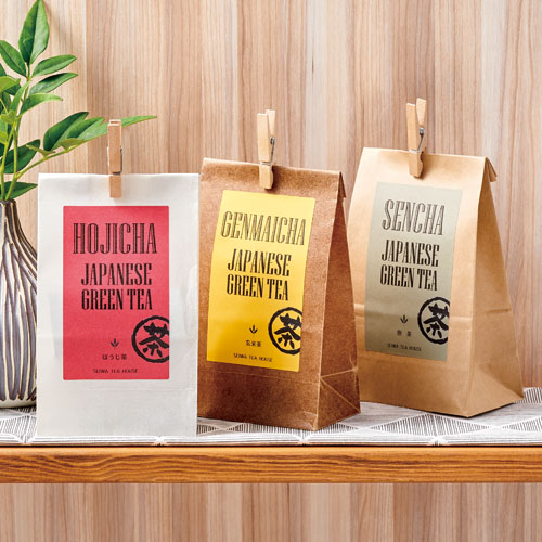 カジュアルなお茶のパッケージ