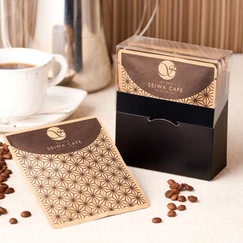 和風なコーヒーのパッケージ