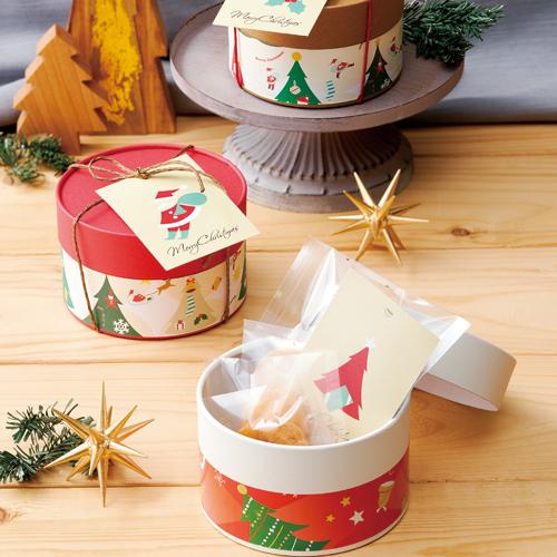 カジュアルな洋菓子のクリスマスラッピング