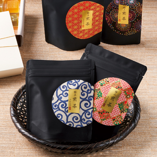 煎茶 和柄パッケージ