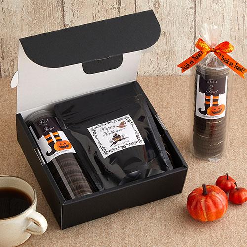 洋風なコーヒー菓子セットのハロウィンラッピング