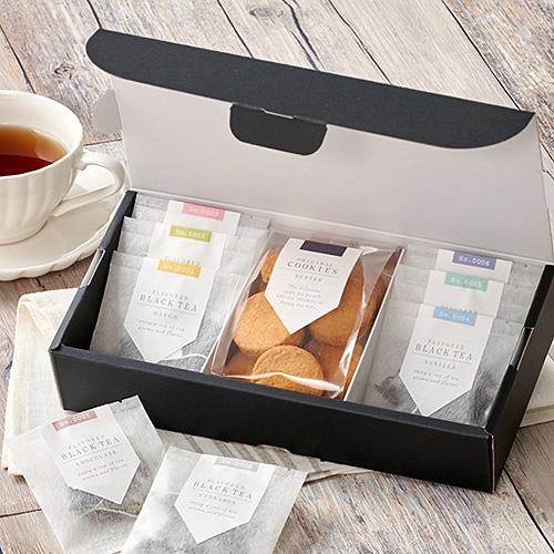 シンプルな紅茶菓子セットのギフト