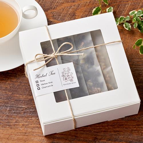 シンプルな紅茶・ハーブティのプチギフト