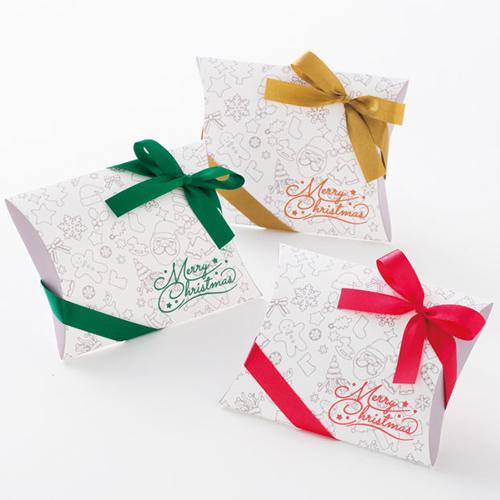 かわいいなコーヒー菓子セットのクリスマスラッピング