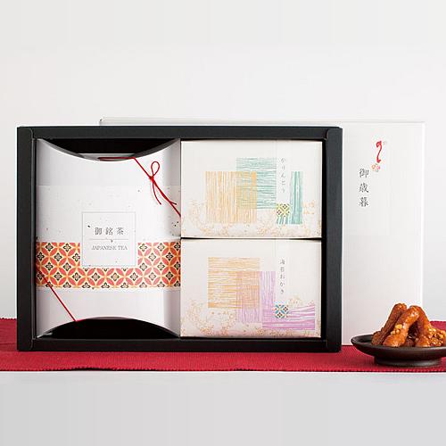 和風なお茶と菓子セットの冬ギフト