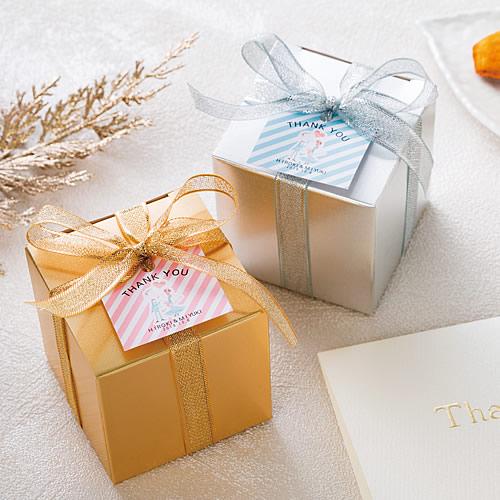 ゴージャスな洋菓子の結婚式 プチギフト