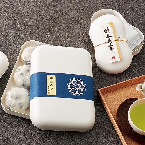 和風なお茶と菓子セットのパッケージ
