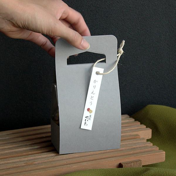 シンプルな和菓子のパッケージ