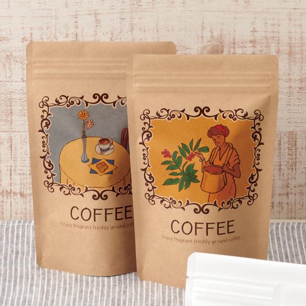 洋風なコーヒーのパッケージ