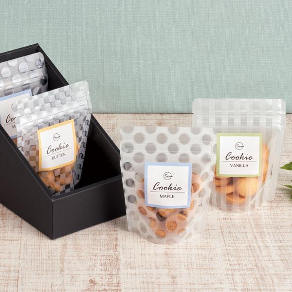 カジュアルな洋菓子のパッケージ