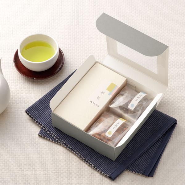 シンプルなお茶と菓子セットのギフト