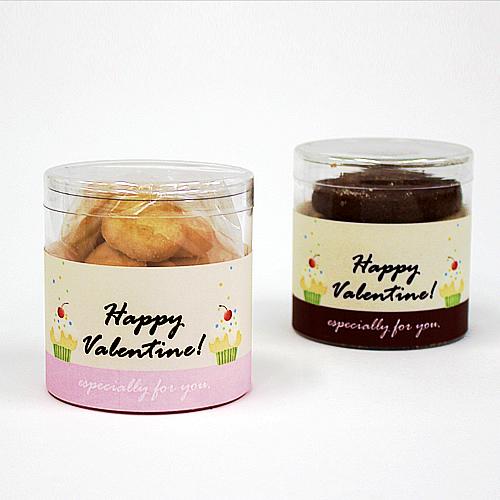 バレンタイン クッキー 透明管パッケージ