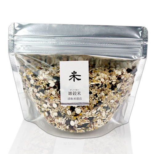 シンプルな米・雑穀のパッケージ
