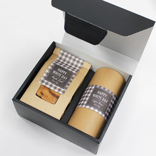 ナチュラルなコーヒー菓子セットのホワイトデー
